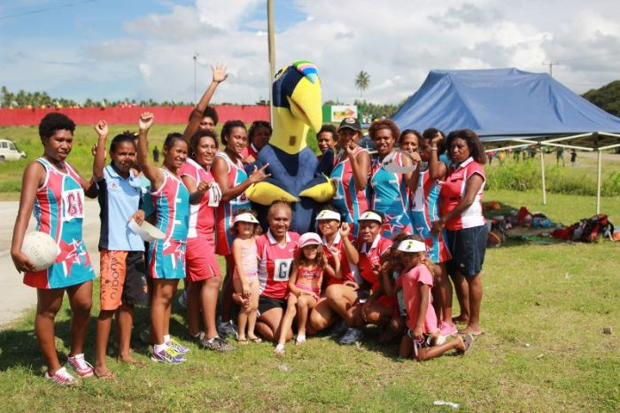 With the Netball Girls